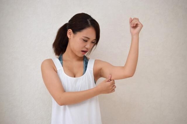 二の腕のセルライトが痛い場合きの対処法