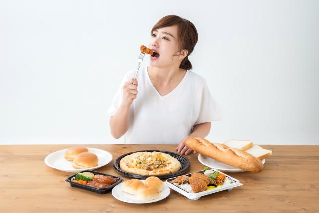 栄養バランスの悪い食事