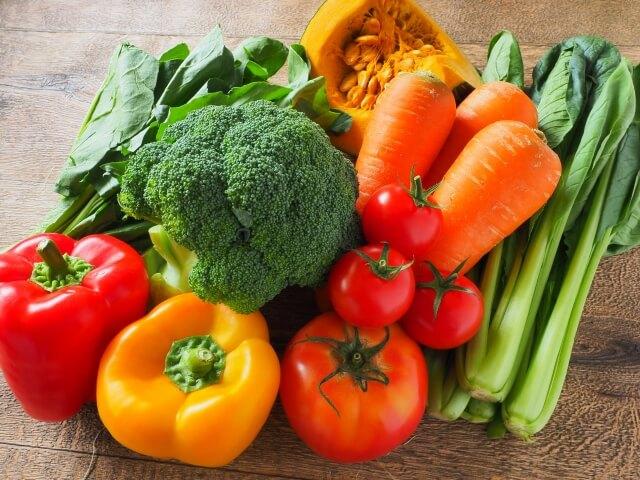 野菜をたっぷり食べる