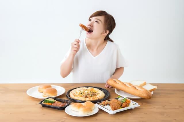 偏食や不規則な食事