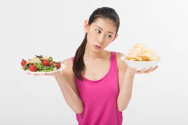 食事量を意識して制限する
